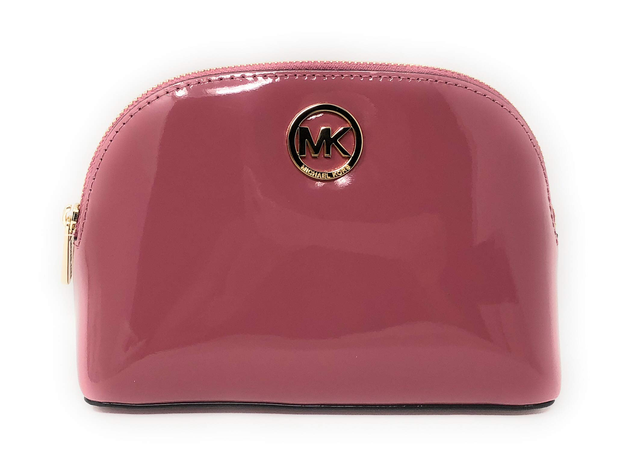 Michael Kors Fulton Patent Leather Cosmetic Travel Pouch in Tulip