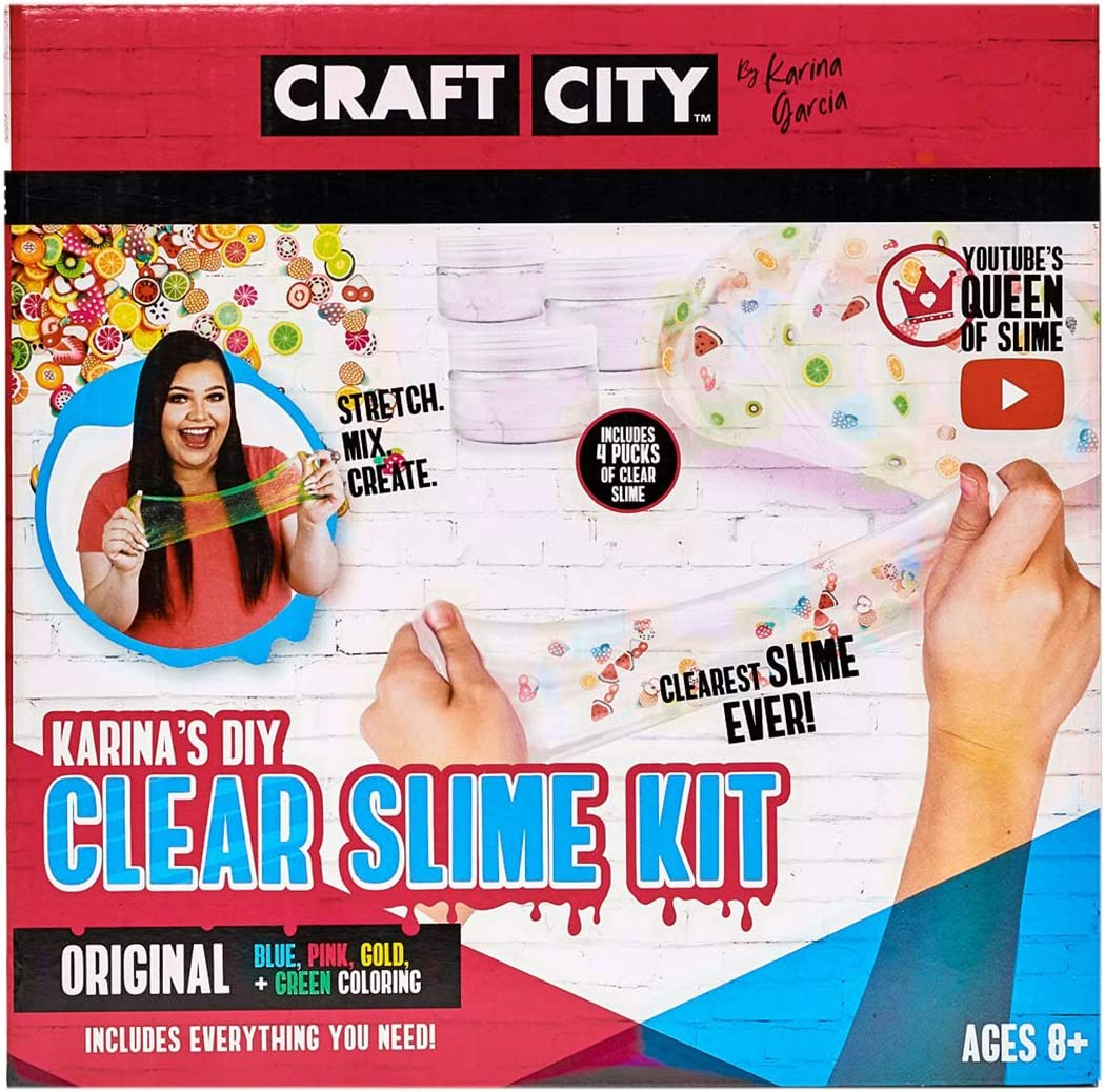 Pre Made Slime 4 Pack Craft City Karina Garcia DIY Clear Slime Kit Ages 8+