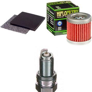 Filtro de aire Filtro de aceite Bujía Aprilia Habana 125 Custom 1999 - 2002 kit de mantenimiento servicekit: Amazon.es: Coche y moto