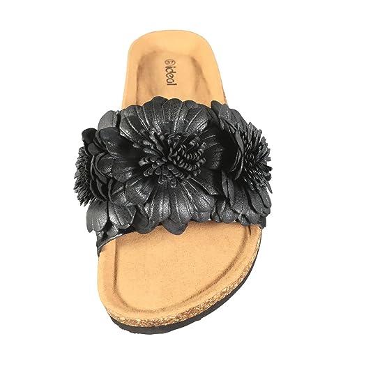 Schuhtraum Damen Sandalen Blumen Pantoletten Sandaletten Slipper Clogs  ST162  Amazon.de  Schuhe   Handtaschen c426e93874