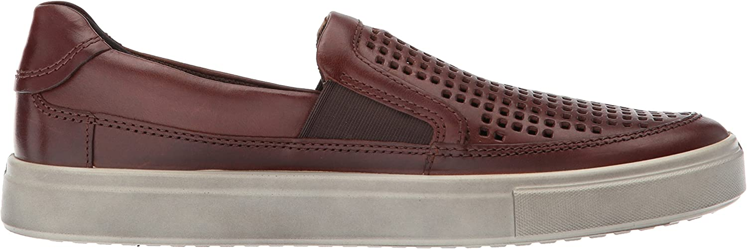 ECCO Men's Kyle Perforated Slip on Fashion Sneaker Cognac