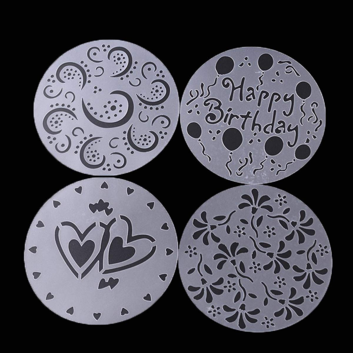Amazon.com: Myhome99 cake mold Plastic Cake Stencils Flower Spray Stencils Birthday Cake Mold Decorating Bakery Tools DIY Mould Fondant Template: Kitchen & ...