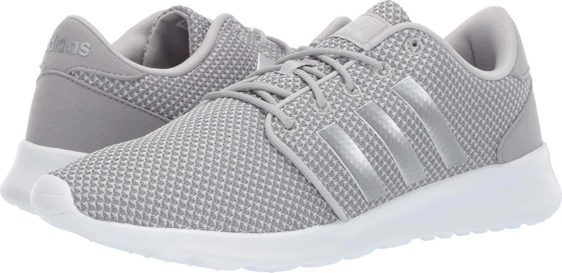 adidas Women's Cloudfoam QT Racer Shoes, Light Granite/Silver Metallic/Grey, 8.5 M US by adidas