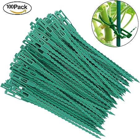 Pflanzenbinder 40 Stück Verstellbarer Plastik-Binder