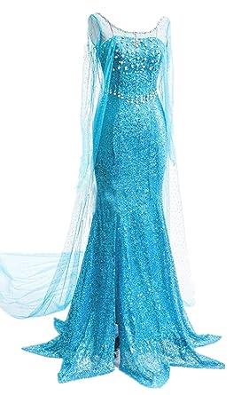 Lonely hero Damen Elegante Prinzessin Elsa Kleid mit warmer Stola ...
