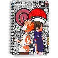 Comicsense.xyz Naruto and Sasuke Rivals Anime Spiral A5 Notebook