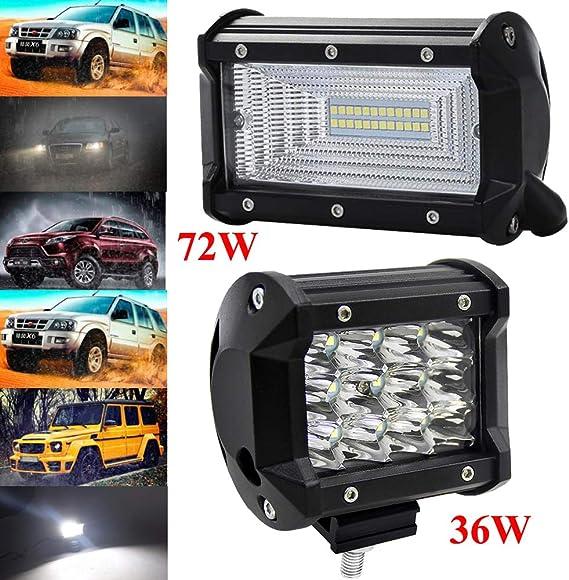 Leetop 4X 120W LED Arbeitsscheinwerfer Off-Road Scheinwerfer Bar Fernlicht 12V-24V Reflektor Lampen IP67 Wasserdicht Zusatzscheinwerfer Flutlicht f/ür Auto Jeep Traktor SUV