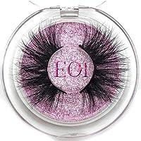 SALLM 25mm Long 3D lashes E01 extra length eyelashes Big dramatic volumn eyelashes strip thick false eyelash,E01 Round…
