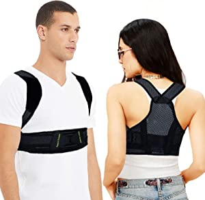 Posture Corrector for Women, Men & Kids, Breathable Invisible Back Straighter Posture Corrector, Improve Posture Pain Relief for Neck, Back, Shoulders