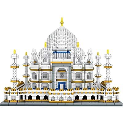 Taj Mahal Nano Mini Building Block Toys World Famous Architectural Model Small Particles, Educational Toys for Teenager Boy 3950 pcs+: Home & Kitchen