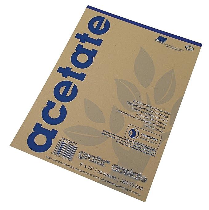 Clear Acetate 9x12 003 25/pd: Amazon.es: Oficina y papelería