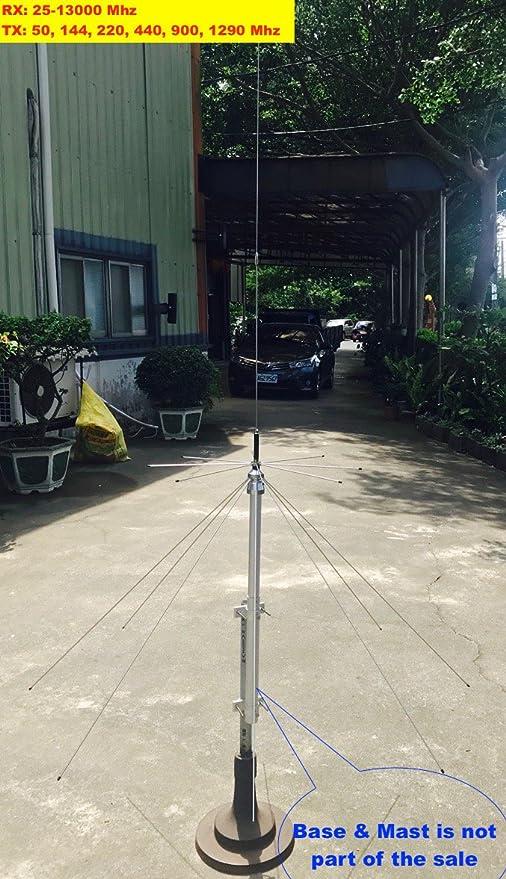 N Connector Harvest 25-1300 mhz Scanner//Ham Discone antenna w// 25 ft RG58 Coax