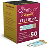 Care Touch Ketone Test Strips - 50 Ketone Blood Test Strips for Diabetics and Ketogenic, Paleo and Atkins Diet