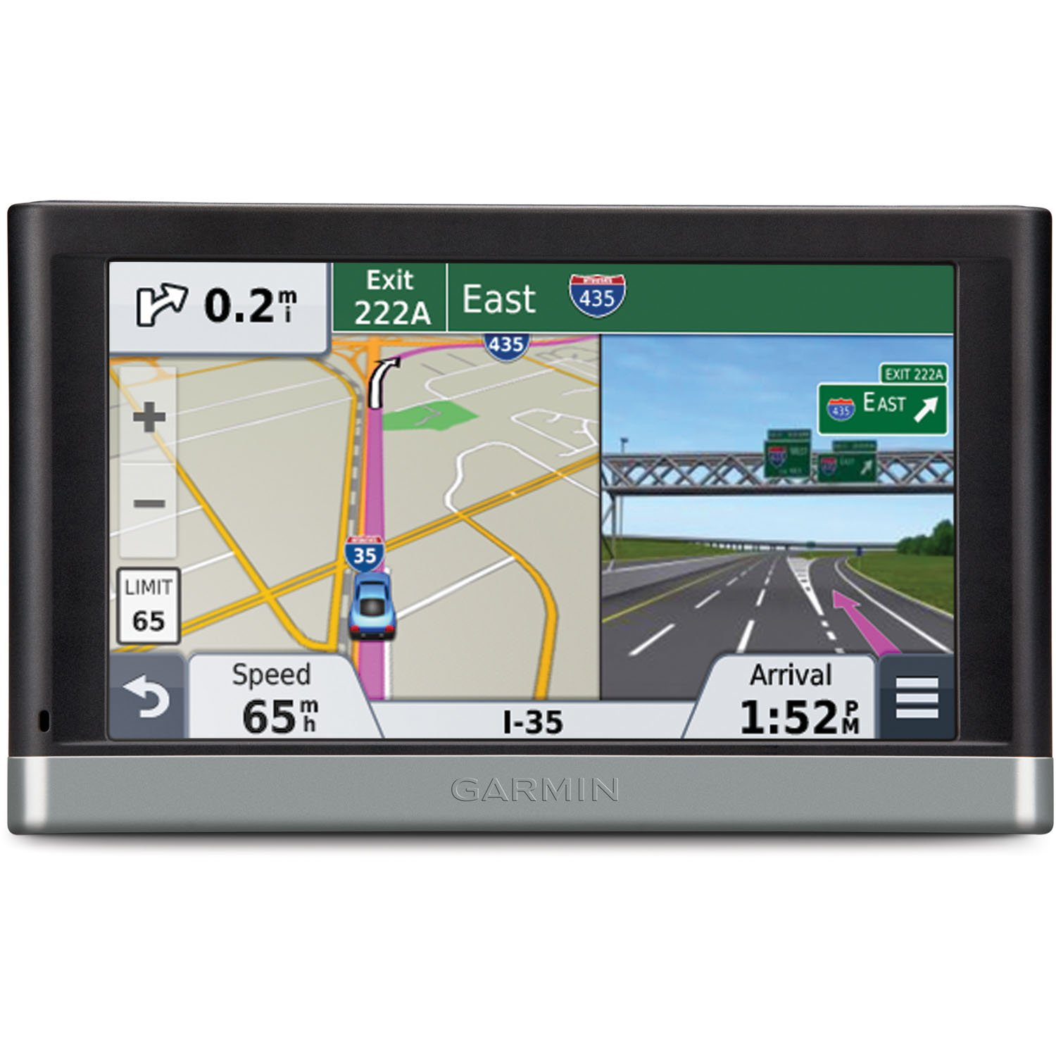 Amazon com garmin n vi 2557lmt 5 inch portable vehicle gps with lifetime maps and traffic discontinued by manufacturer cell phones accessories