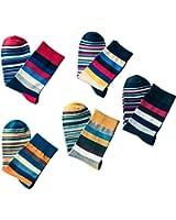 Tinksky 5 accoppiamenti calzini uomo calzini comodi anti-skid lungo regalo di compleanno di Natale per fidanzati uomini