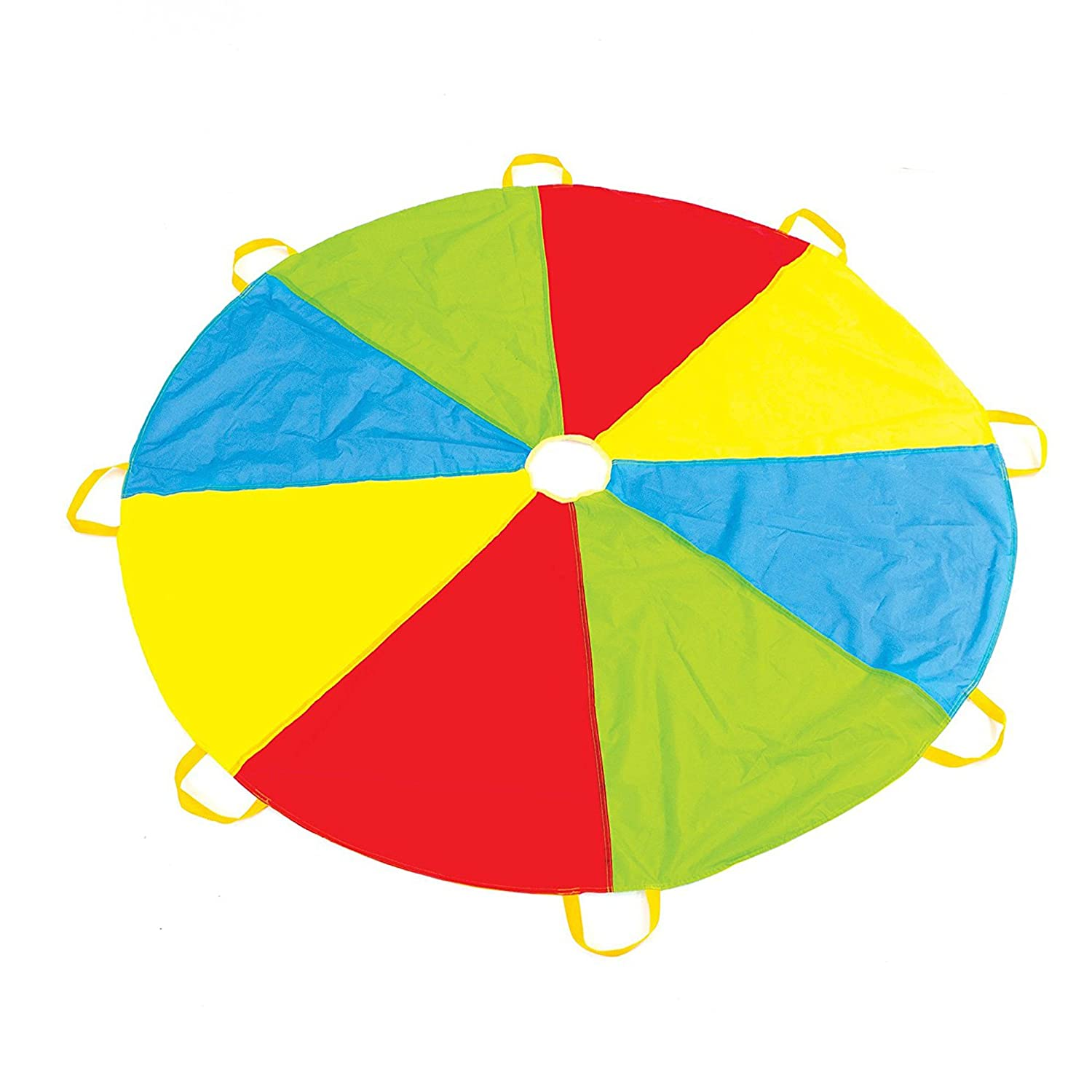 6 Foot Play Parachute with 8 Handles - Multicolored Parachute for Kids Play Platoon