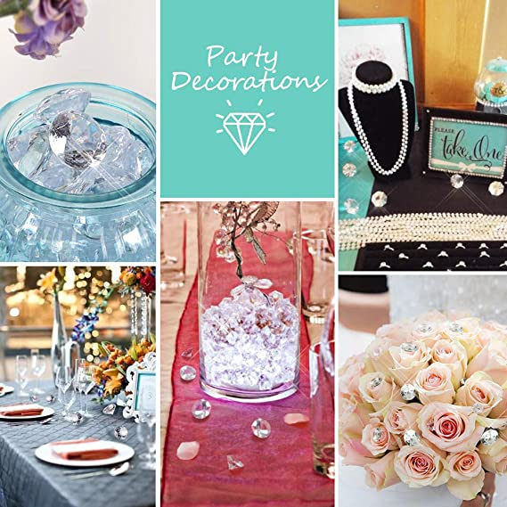 Home Decoration,Romantic Dinner Bridal Shower Party Baby Shower Wedding Birthday Honbay 500PCS 10mm Clear Acrylic Crystal Diamonds Table Confetti Table Scatter for Table Centerpiece