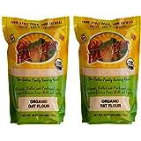 GF Harvest Organic Whole Grain Oat Flour, Gluten Free, 2.5 Pound Bag (Pack of 2)