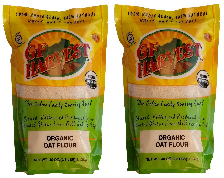 GF Harvest Gluten Free Organic Whole Grain Oat Flour, 40 oz. Bag, 2 Count