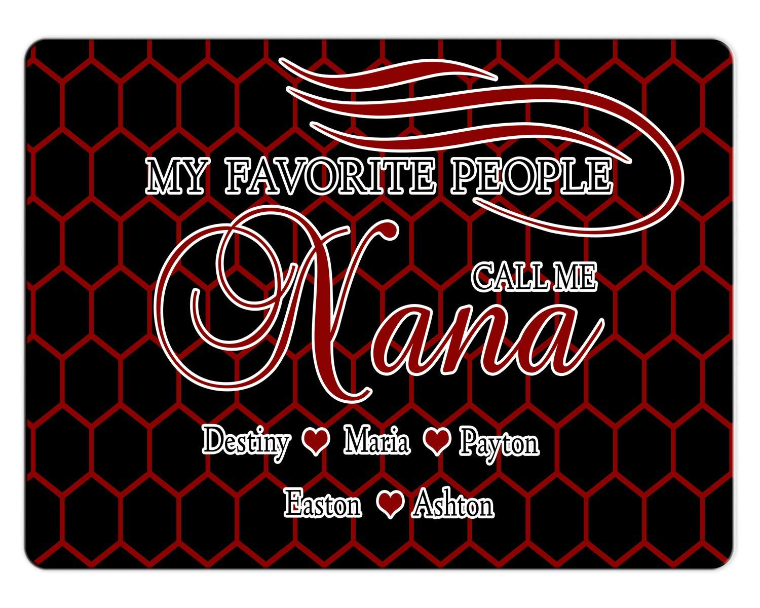 BRGiftShop Personalize Your Own Custom Name My Favorite People Call Me Nana 11x15 Glass Cutting Board