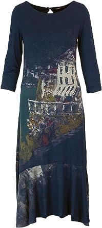 Desigual Robe Longue Femme Vest Soul 18wwvk06 Amazon Fr Vetements Et Accessoires