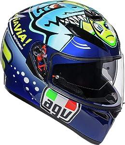 AGV Unisex-Adult Full Face Helmet (Blue, Medium) - 210301O0MY00408