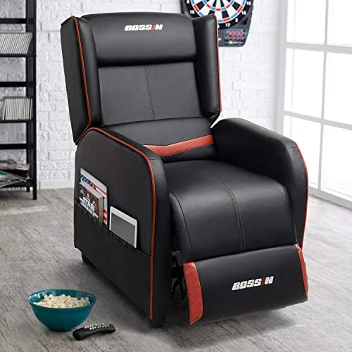 Lemberi Gaming Recliner Chair Racing Style Morden Recliner Seating Sofa Ergonomic Single Lounge Sofa PU Leather Sofa Home Theater Seating for Living Room Home
