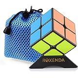 MoYu Lingpo 2x2x2 Speedcube Cube Magique Puzzle Lisse avec Support & Sac (Noir)
