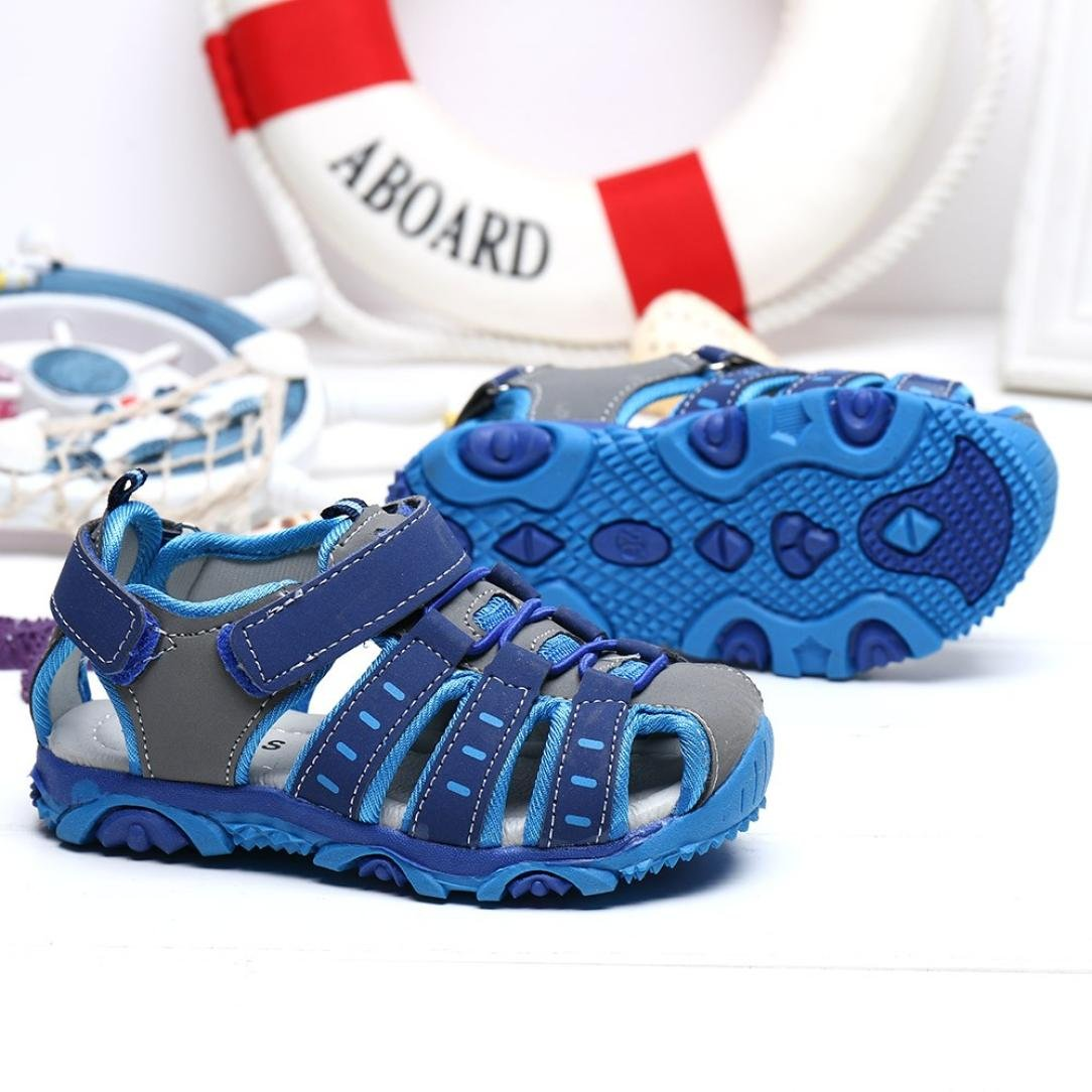 Gris, CN:21 ❤️ Manadlian Ni/ños Ni/ños Zapatos Zapatos cerrados Boy Girl Sandalias de playa de veran Zapatillas /¡Verano caliente