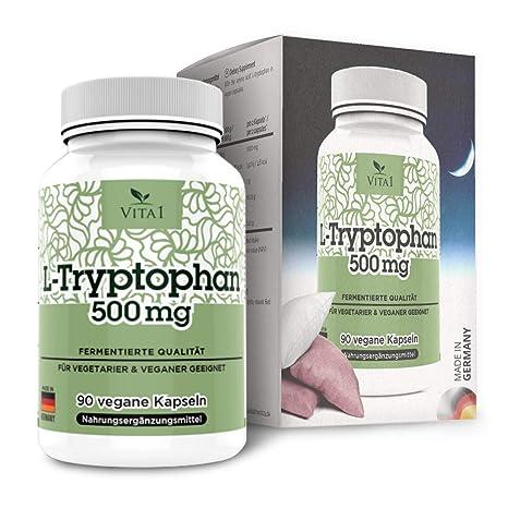 Cápsulas de L-Triptófano 500mg de VITA1 • 90 cápsulas (6 semanas de suministro