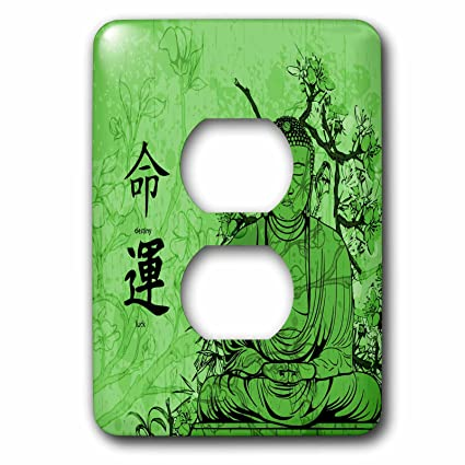 Anne Marie Baugh Oriental A Green Budda With Flowers And Oriental