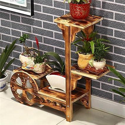 Estante de madera de la flor / estante simple de la sala de estar ...