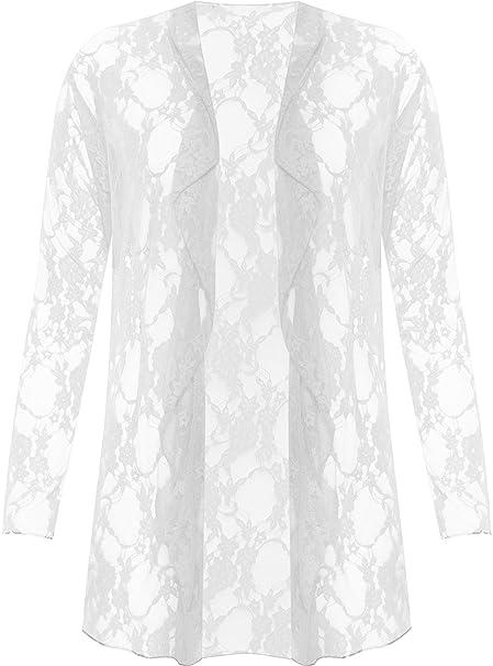quality design ad9e2 056b6 WearAll Plus Size da Donna in Pizzo Floreale Aperto Cardigan ...