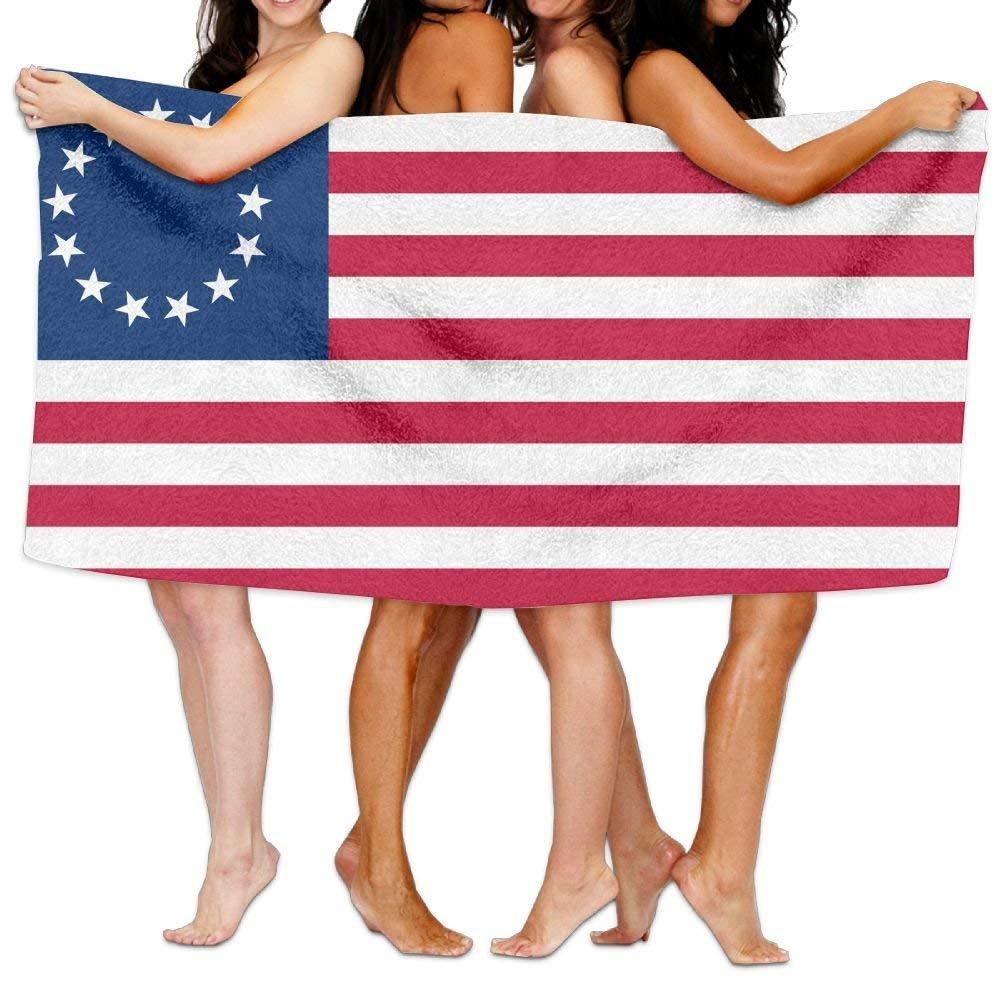 'New Pantalones Cortos Beach Towel US Flag 13Stars–Betsy Ross.SVG 80'X 130Soft Lightweight Absorbent for Bath Swimming Pool Yoga Pilates Picnic Blanket Towels