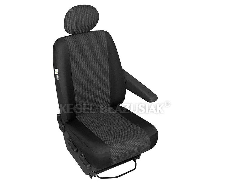 ZentimeX Z999959 Sitzbezü ge Beifahrersitz / Einzelsitz Armlehne links Stoff schwarz Airbag-Kompatibel renault