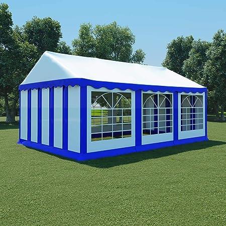 honglianghongshang Jardín Artículos de Exterior Estructuras de Exteriores Carpa de jardín de PVC 4x6 m Azul y Blanco: Amazon.es: Hogar