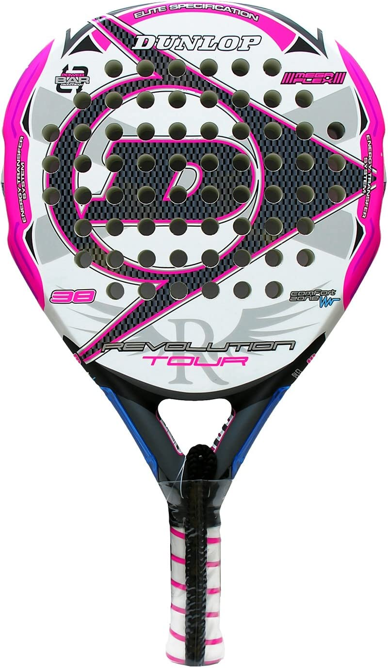 Pala de pádel Dunlop Revolution Tour 2.0 Pink 2016: Amazon.es ...
