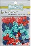 Babyville Boutique Snaps, Red/Blue/Lt Blue, 60 Count