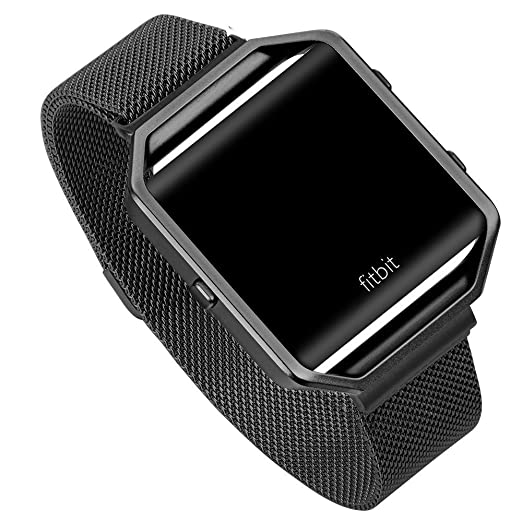 5 opinioni per Fitbit Blaze Watch Band, Fotowelt Milanese Loop nero in acciaio inossidabile