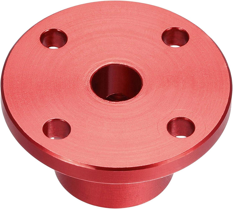 sourcing map 6mm diametro interno H15xD15 rigido flangia accoppiamento guida motore albero accoppiatore motore connettore per parti fai da te rosso