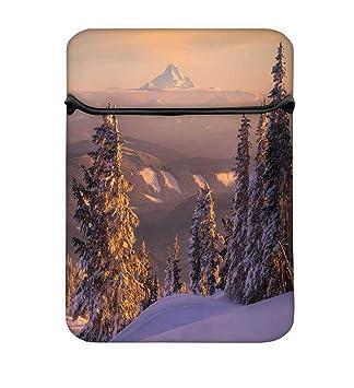 Snoogg Árboles con nieve 12 inch fácil acceso funda acolchada para portátil carcasa funda bolsa: Amazon.es: Electrónica