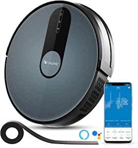 Proscenic 820S Robot Vacuum Cleaner, WiFi Connectivity, Alexa Control, Smart Mapping, Auto Carpet Boost, 1800Pa Max Suction, 600ML Large Dustbox, Self-Charging, for Pet Hairs, Hard Floors and Carpets