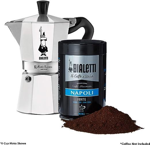 Bialetti 06857 Moka Express StoveTop Coffee Maker, 1-Cup, Aluminum