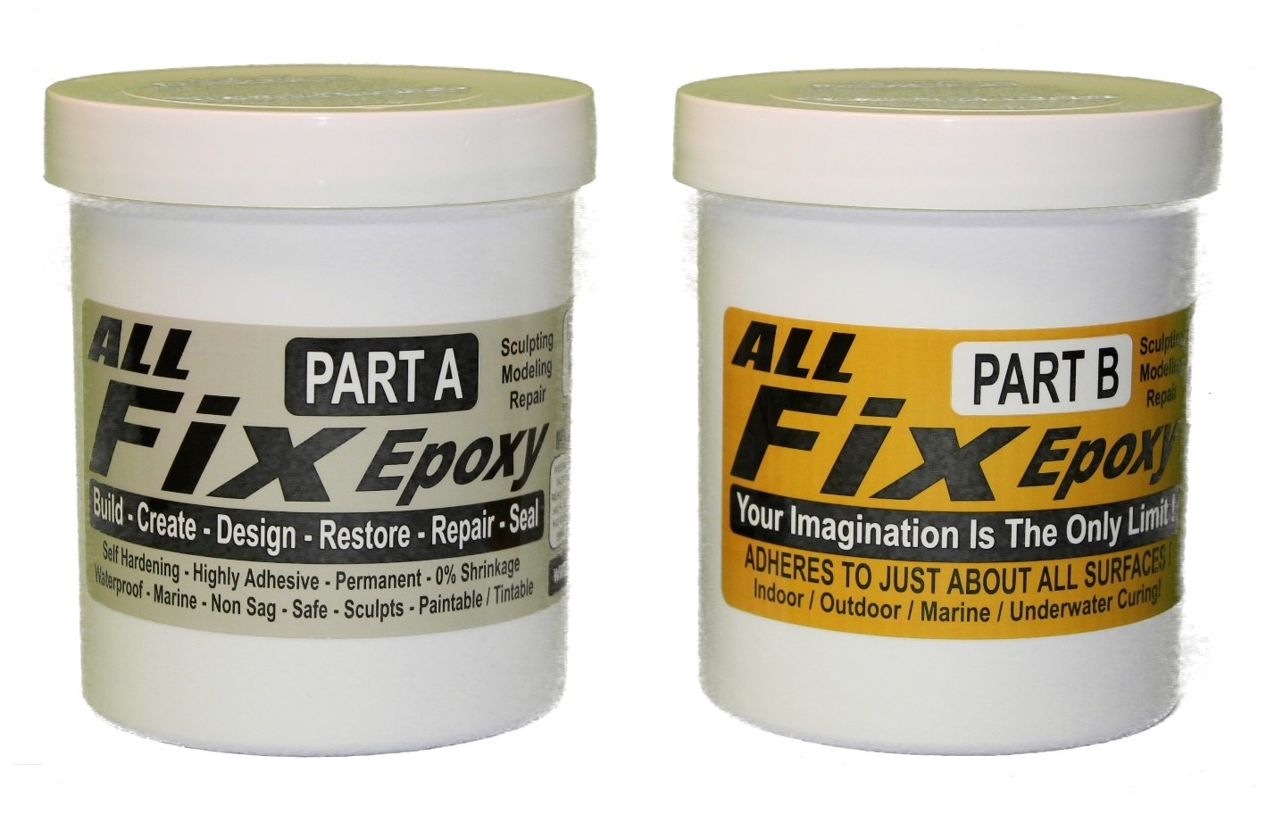 All-Fix Epoxy Putty 3 Pound Unit - 2 Pint Set - Underwater Epoxy - All Fix By Cir-Cut Corporation - The All Purpose Epoxy Repair Material - Home - Jewelry Design - Arts & Crafts - 1001 Uses !