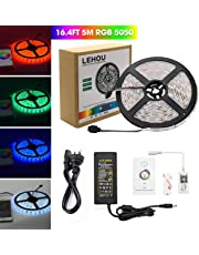 LEHOU Bluetooth LED Strip Light, Flexible RGB Strip Light Kit,Rope Light for iOS/Android App Controlled for Festival Decoration (16.4ft Waterproof Bluetooth Light Strip)