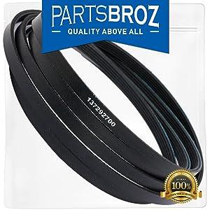 137292700 Drum Belt for Frigidaire & Electrolux Dryers & Laundry Centers by PartsBroz - Replaces AP4565702, 134163500, 134503900, 148271, 1615170, 5303283287, AH3408299, EA3408299, PS3408299