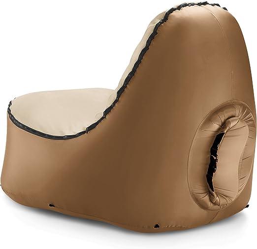 Amazon.com: TRONO - silla de estar inflable con respaldo sin ...