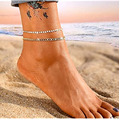 Women Ankle Bracelet Gold Silver Barefoot Chain Chic Anklets New Fashion Jewelry