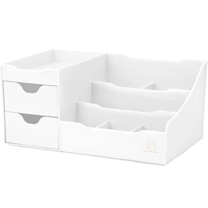 Genial Amazon.com: Uncluttered Designs Makeup Organizer With Drawers (White): Home  U0026 Kitchen