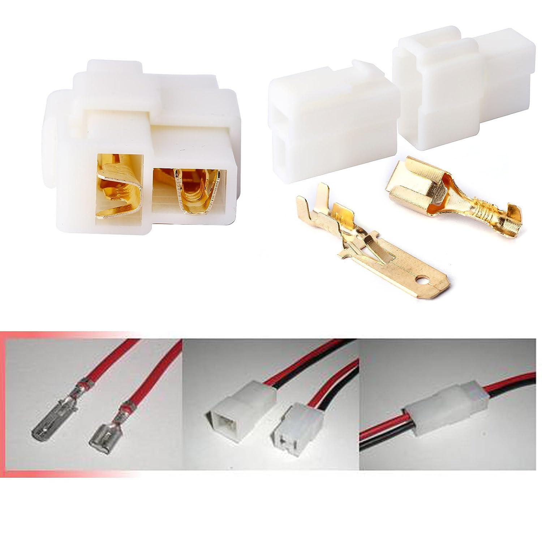 20 Sets 2 Way Pin 63mm Electrical Multi Plug Connector Terminal Motorcycle Wiring Blocks Block For Bike Boat Car Diy Tools